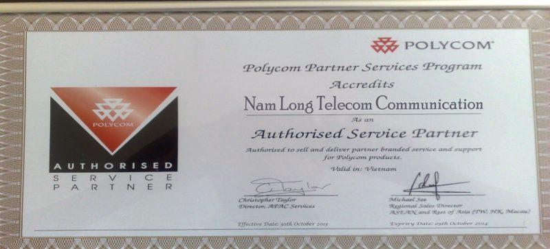 1. Năm 2013 Nam Long được chứng nhận Authorised Sevice Partner chính thức