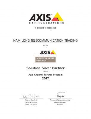 chứng nhận silver partner của Axis tại Việt Nam