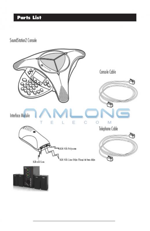 hướng dẫn lắp Nguồn Polycom Soundstation2